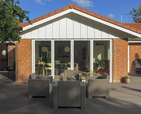 nye foldedøre hus Løgumkloster